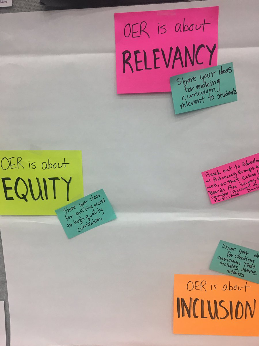 How can we make curriculum &amp; courseware more relevant, equitable &amp; inclusive? Share your ideas! #NAACP #NAACP108 #OER #GoOpen #equity<br>http://pic.twitter.com/xG6w3pUCQu