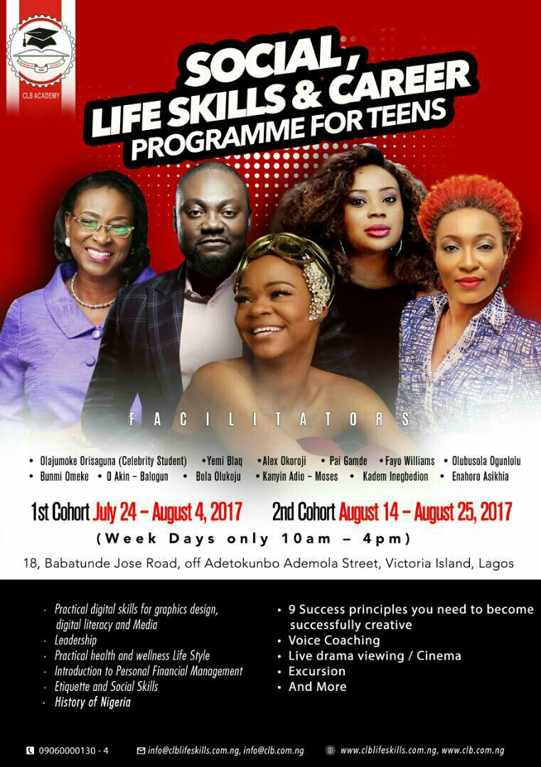 Give your kids the best this summer with #ClbLifeSkill #Coaching @qtabyevents1 @AlexOkoroji @vnkong @TheNakedTalk<br>http://pic.twitter.com/kDvyczExrZ