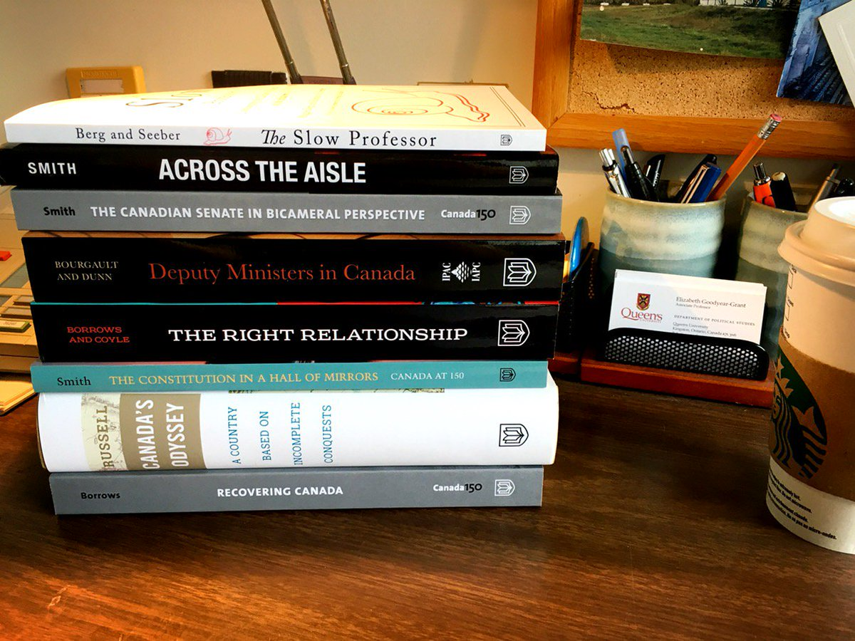 Ready to dive into this stack of summer poli sci reading #academia #cdnpoli<br>http://pic.twitter.com/kXaTLUBvHn