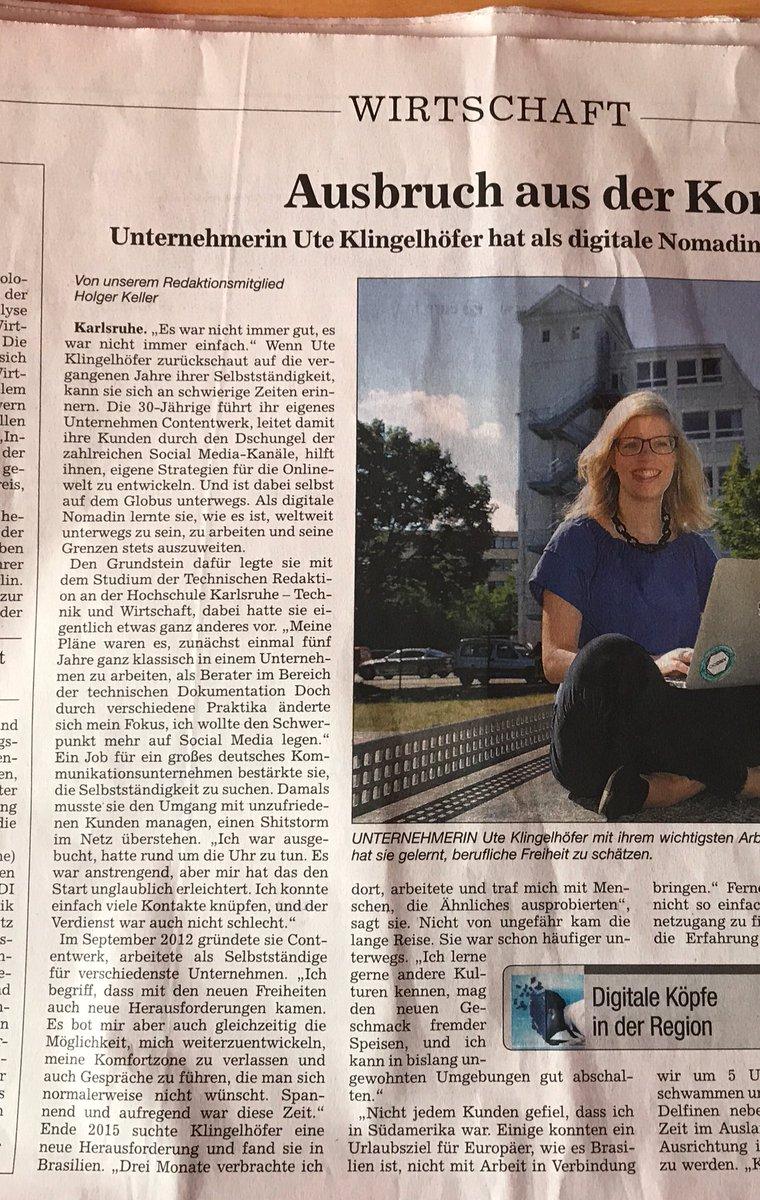 Heute bin ich auf Seite 7 in der Tageszeitung der @BNN_BaNeuNa oder online unter: https://bnn.de/nachrichten/wirtschaft/digitale-koepfe/ausbruch-aus-der-komfortzone…