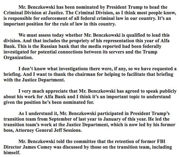 "#Benczkowski #AlfaBank #DOJ #CriminalDivision #TrumpTower #servers #TrumpOrganization ""@POTUS"" #EricTrump #TrumpJr #EnterpriseCorruption"