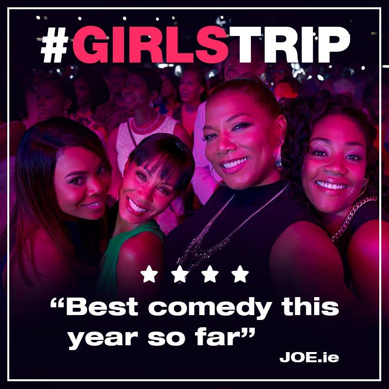 Joe.ie gives #GirlsTrip 4****! In cinemas TOMORROW! https://t.co/6cGX9...