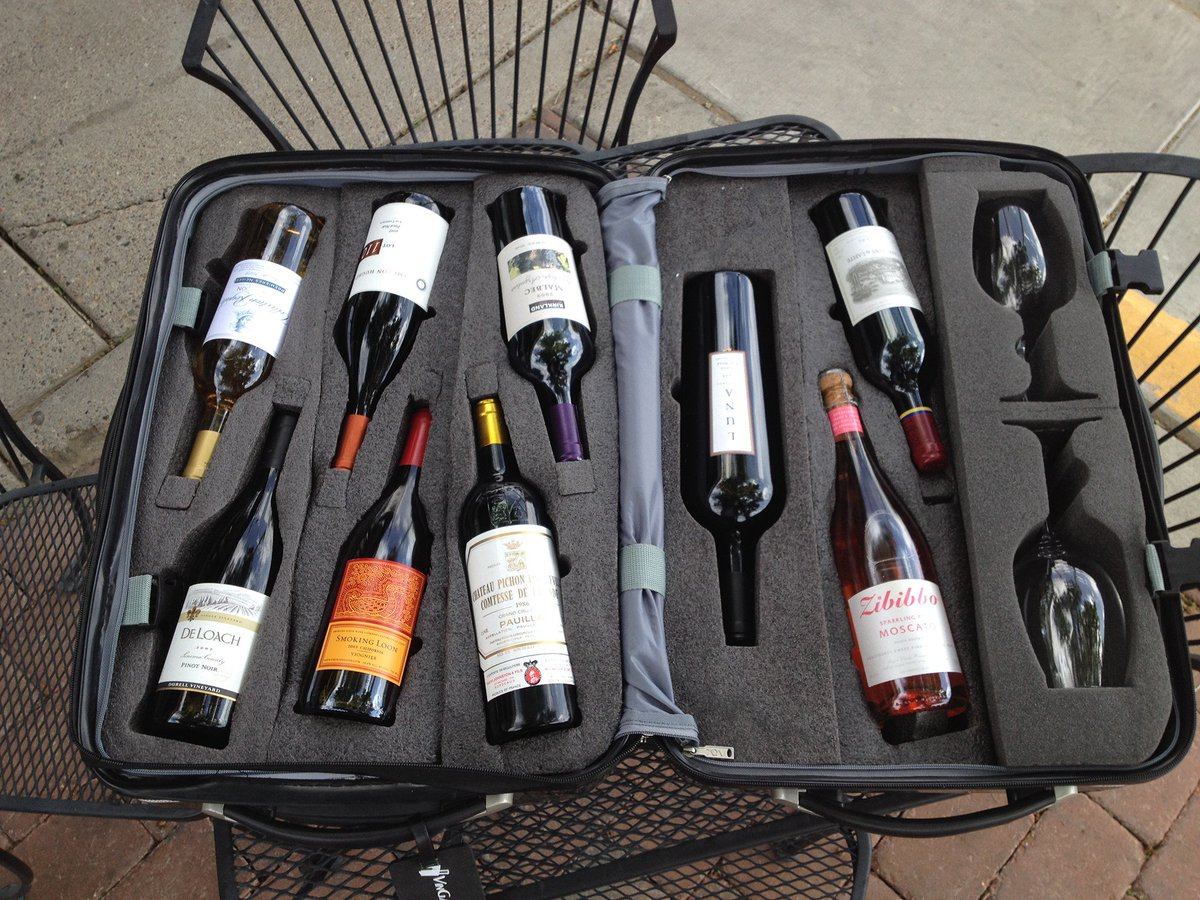 RT if you need this #wine suitcase in your life this summer!  <br>http://pic.twitter.com/xzPpH38g2B