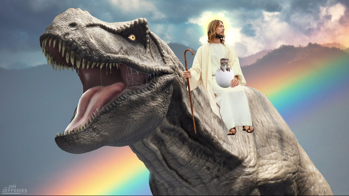 """Jim Jefferies Show on Twitter: """"JESUS CHRIST ON A DINOSAUR. All new ep of  #jefferiesshow tonight at 10:30/9:30C on @ComedyCentral.… """""""