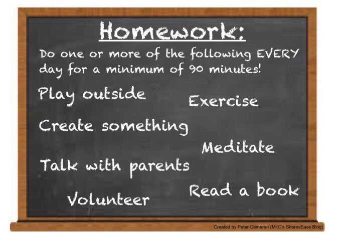 I could get down with this as #homework: via @cherandpete #edchat <br>http://pic.twitter.com/WfLnguPSLr