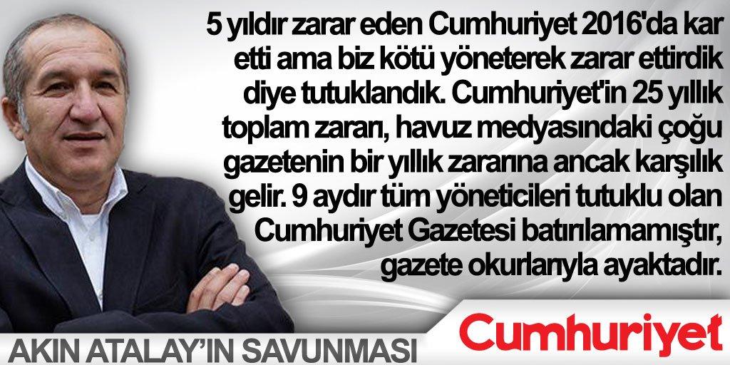 Akın Atalay'ın tarihi savunmasının tam m...