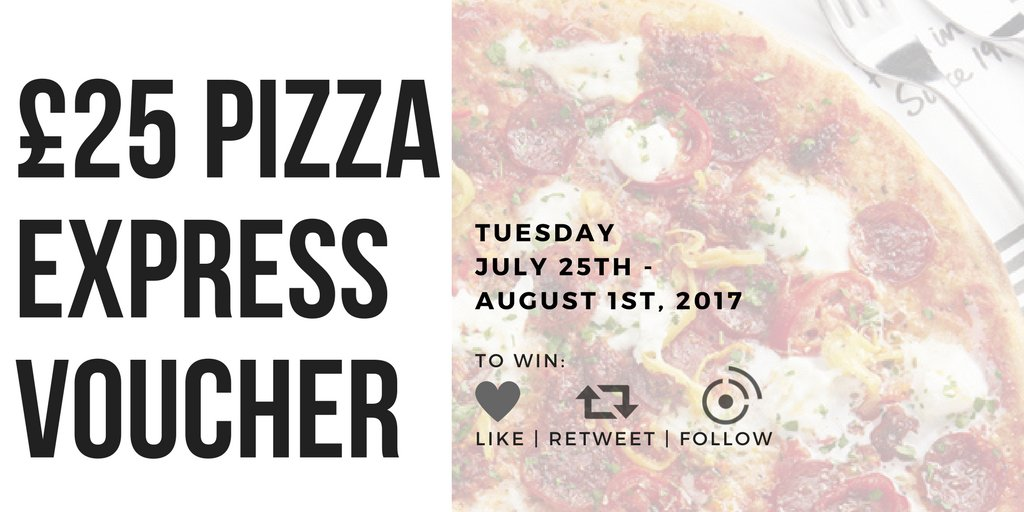 This week we&#39;re giving away a £25 Pizza Express Voucher! For your chance to win: Like + RT + Follow! #giveaway #TuesdayMotivation #freebies<br>http://pic.twitter.com/OvSQltudAl