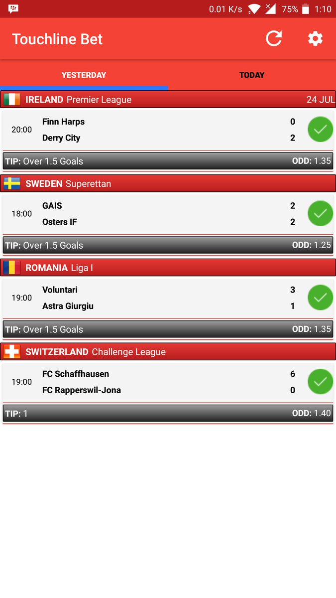 4/4 games WON yesterday. Were you on?! #bookiebashing #bettingtips<br>http://pic.twitter.com/zmSrMFVruo