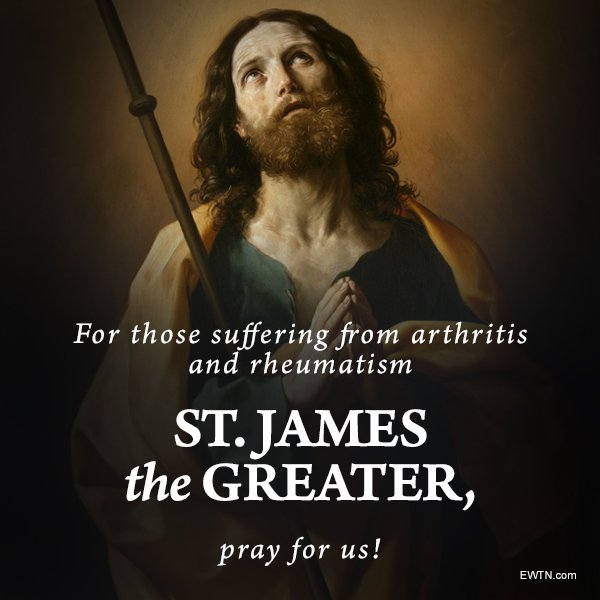 #Today we remember St. James the Greater, Apostle of Jesus. #EWTN #Catholic #prayforus<br>http://pic.twitter.com/R21GP6yy7h