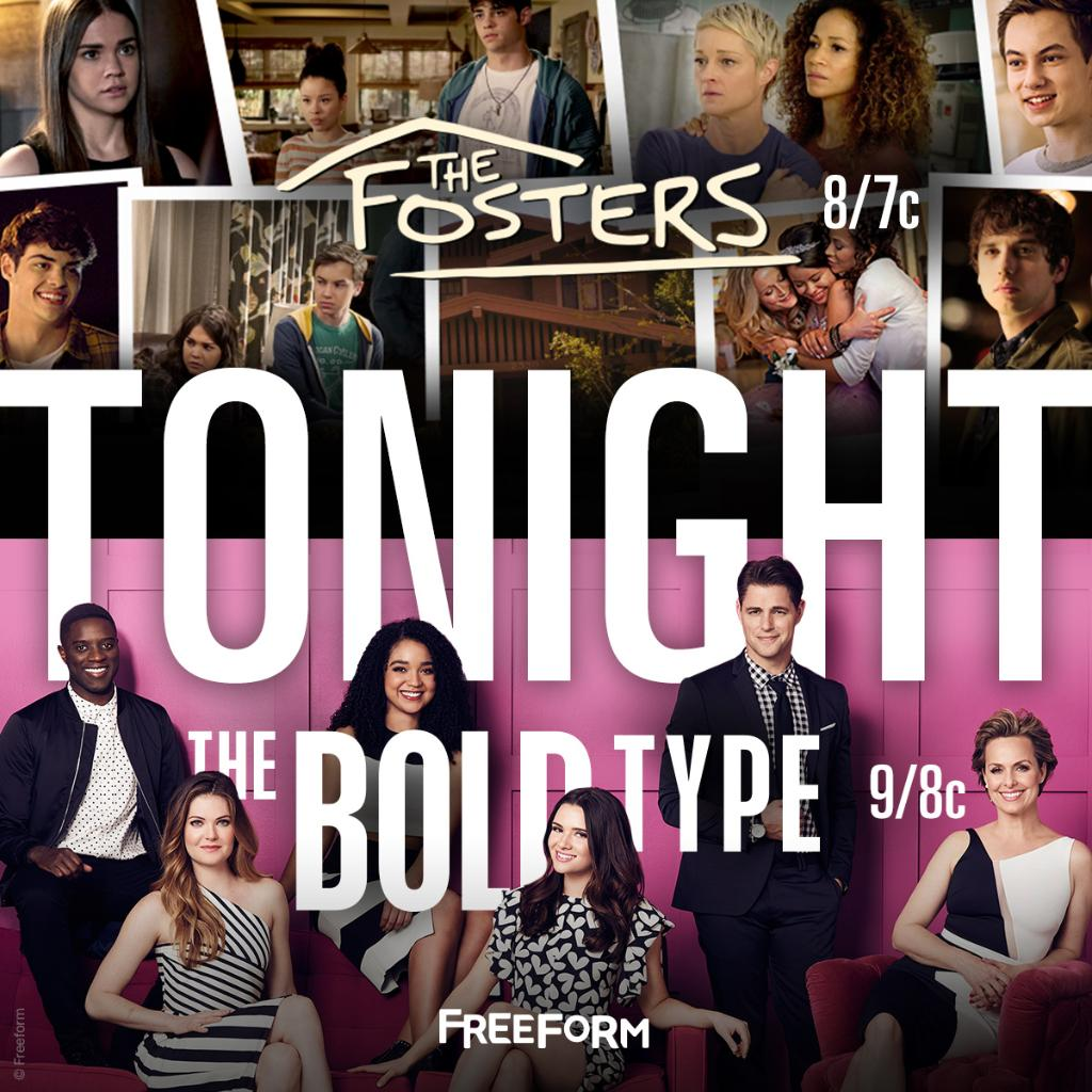 #TheFosters AND @TheBoldTypeTV?  How could you not love Tuesdays on @F...