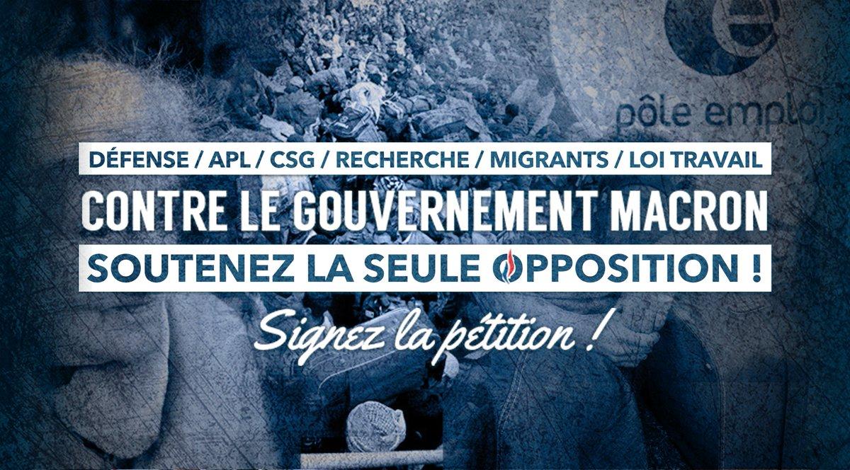 🔴Soutenez #LaSeuleOpposition, signez notre pétition 👉🏻 https://t.co/Uls414PF9f