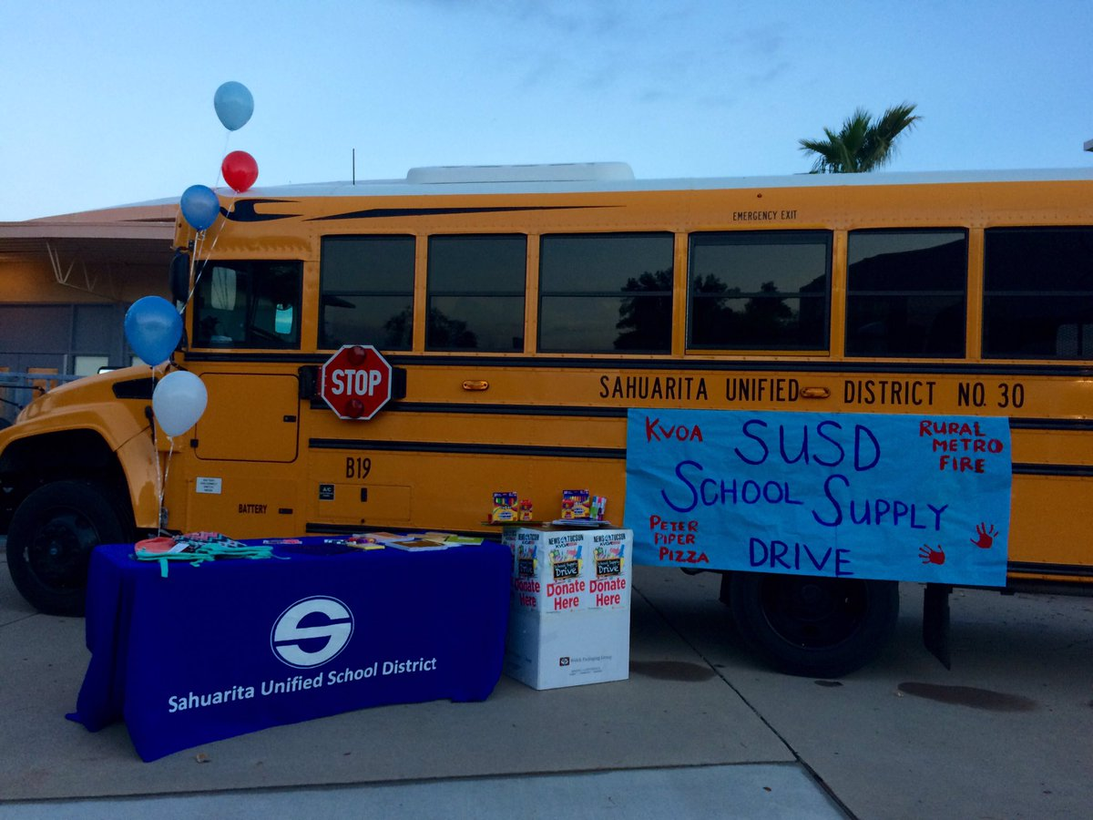 COME SEE ME!! We are at the @SUSD30 district auditorium collecting #school supplies SHOW UP #sahuarita and help our teachers and students!<br>http://pic.twitter.com/fZJMjH96lO