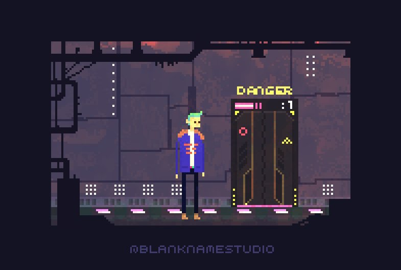 122nd Floor. Preview of a scene from our #pixelart #cyberpunk #game  #gamedev #indiedev #unity3d #madewithunity<br>http://pic.twitter.com/R20TZha43H