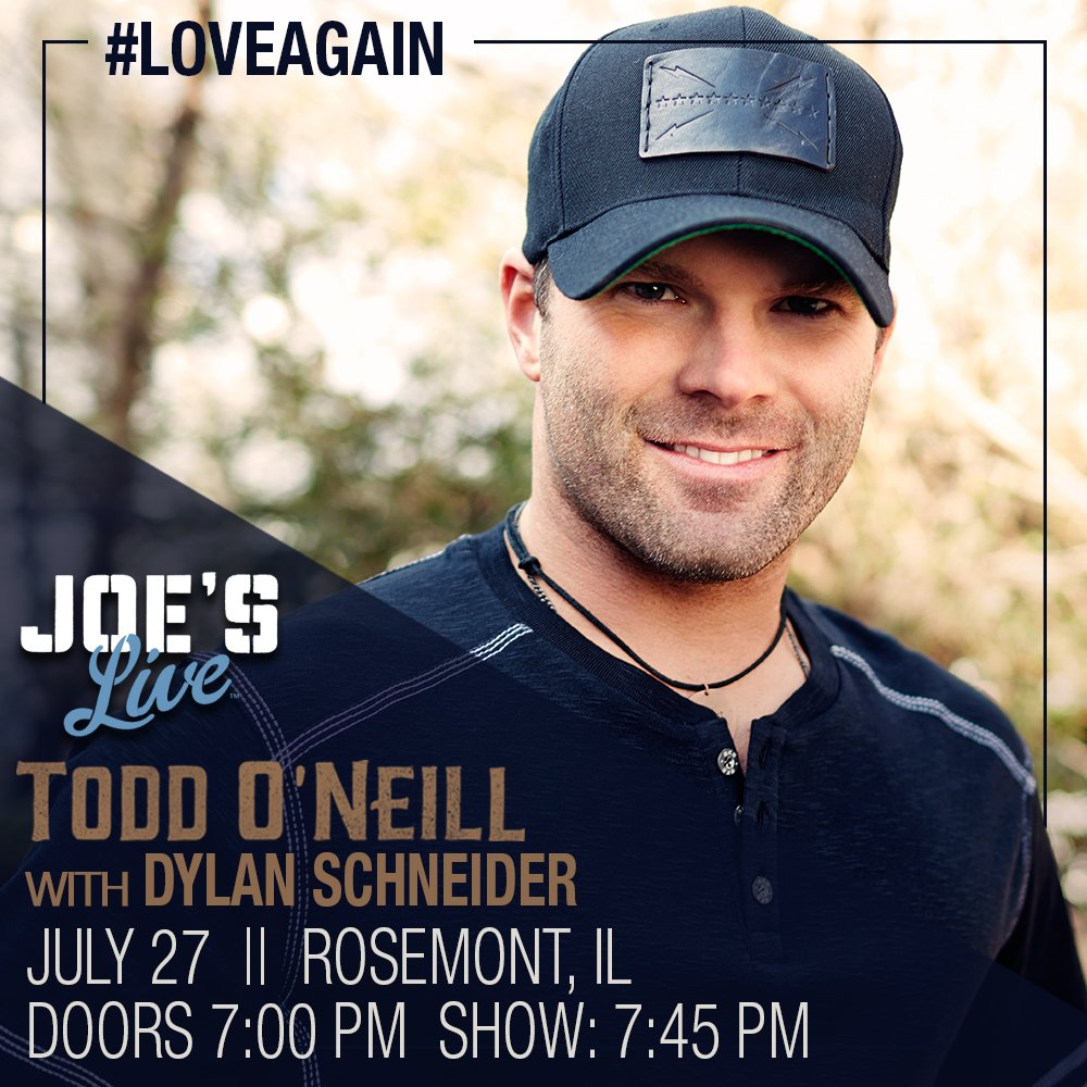 Get y&#39;alls weekend started early! The #TOB + @DylanSchneider + @JoesRosemont = One great night of #LiveMusic! #LoveAgain #OnTheRoad <br>http://pic.twitter.com/RncyrbiWZN