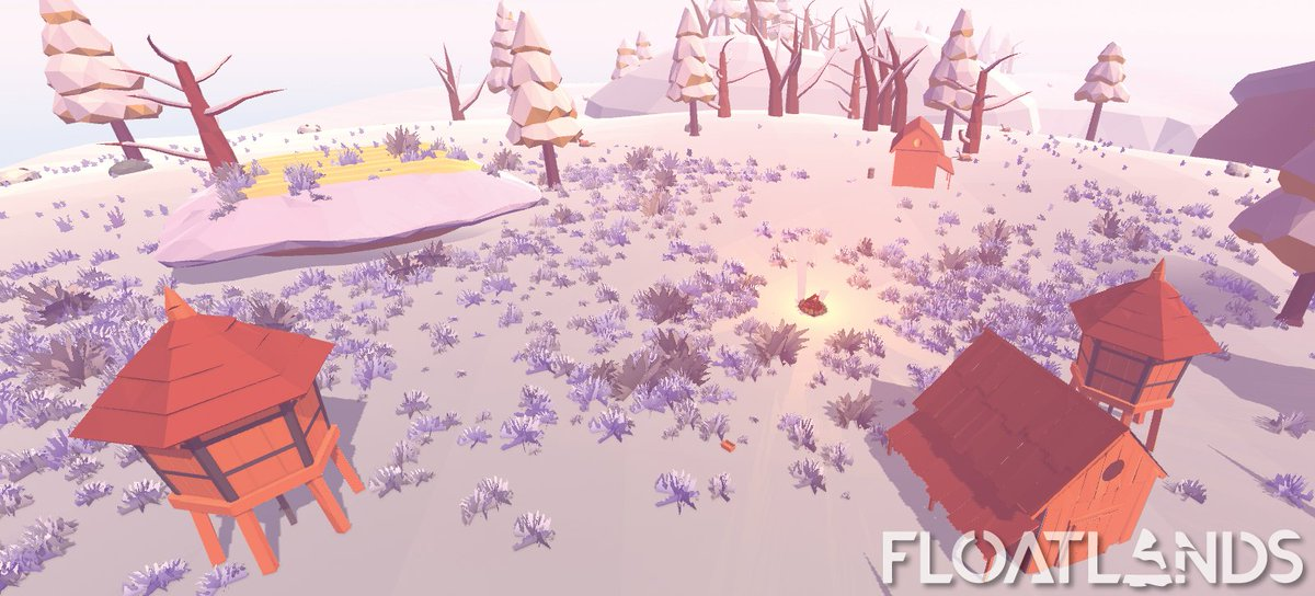 A bit odd including corn fields in winter biome, but doesn&#39;t look bad, right? #unity3d #gamedev #indiedev #lowpoly #gaming #floatlands<br>http://pic.twitter.com/M7t6rFae5F