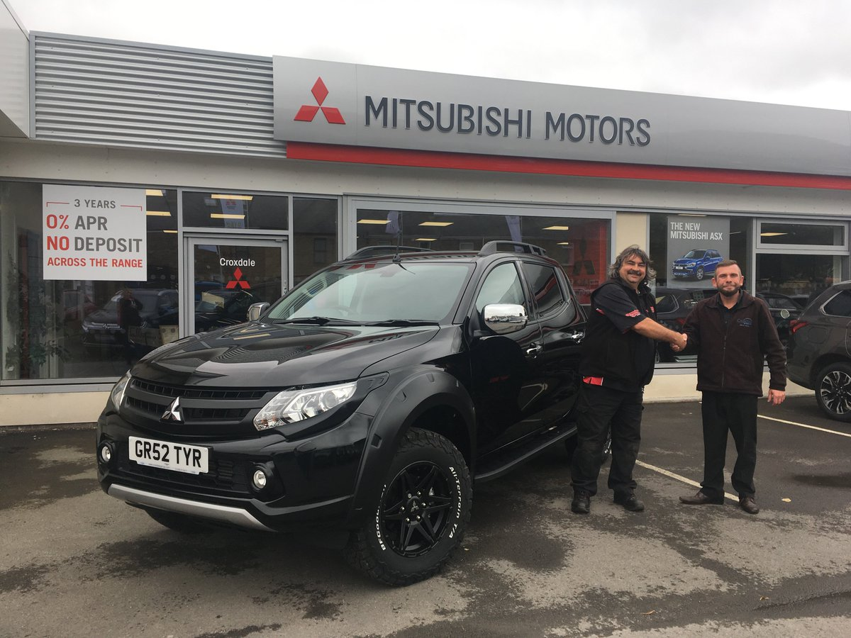 Congratulations to Greg at @GrandeTyres collecting his new L200 Limited Edition SVP from Dave at Croxdale Mitsubishi #L200 #SVP <br>http://pic.twitter.com/Qvt7t84noj