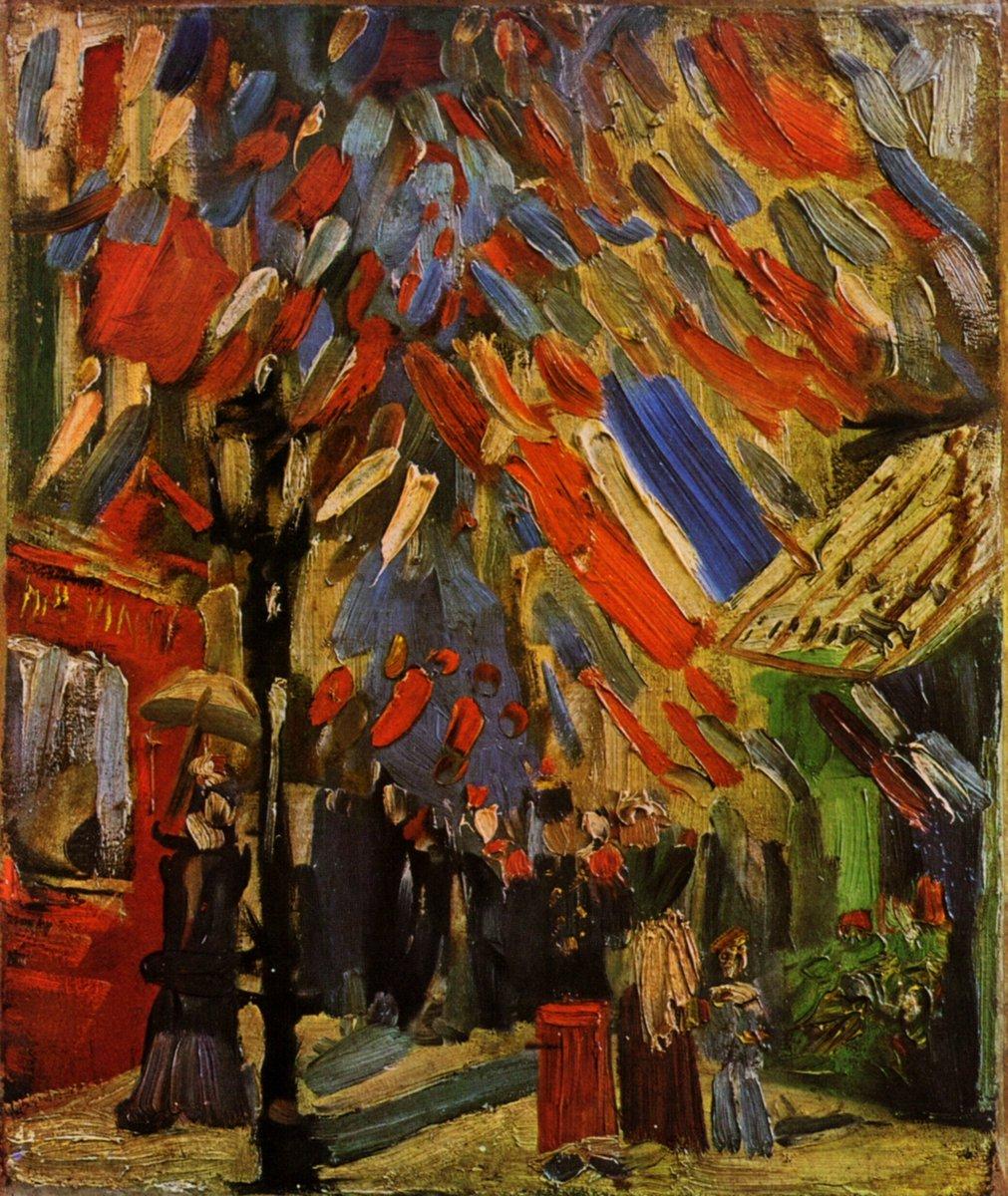 VAN GOGH, &quot;THE FOURTEENTH OF JULY CELEBRATION IN PARIS&quot; 1886 #vangogh #gesture #art #arttwit #twitart #followart #iloveart #artlover #artist <br>http://pic.twitter.com/QRuC23voHQ