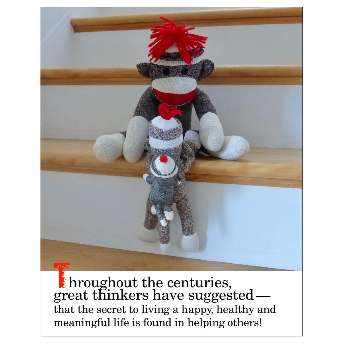 Thought for today. #sockmonkey #motivation #wisdom #wisewords #secrettolife #happy #healthy #meaningful #helpothers  https://www. facebook.com/sockmonkeysez/ photos/a.774219992671626.1073741828.739846952775597/1483382618422023/?type=3&amp;theater &nbsp; … <br>http://pic.twitter.com/UjxIN845IX