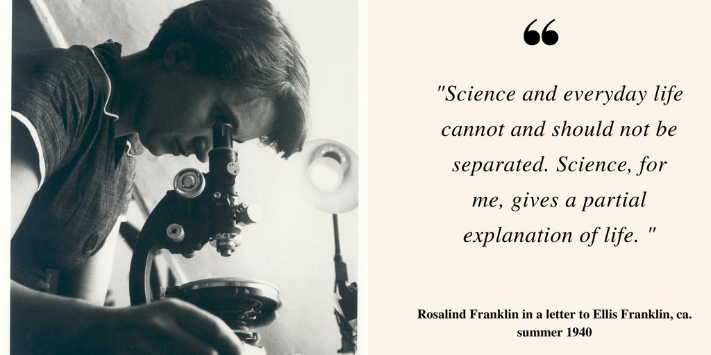 Happy bday to #RosalindFranklin-- who&#39;s work paved the way for the discovery of the structure of DNA. #womeninSTEM  http:// bit.ly/1TwXM95  &nbsp;  <br>http://pic.twitter.com/m1YfBQLJ8u