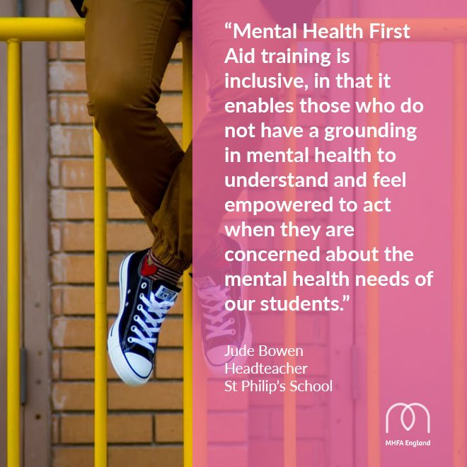 #MentalHealthFirstAid training has helped staff at St Philip&#39;s #school feel confident supporting students:  https:// mhfaengland.org/mhfa-centre/ca se-studies/st-philips-school/ &nbsp; … <br>http://pic.twitter.com/gTkT8q6NAJ