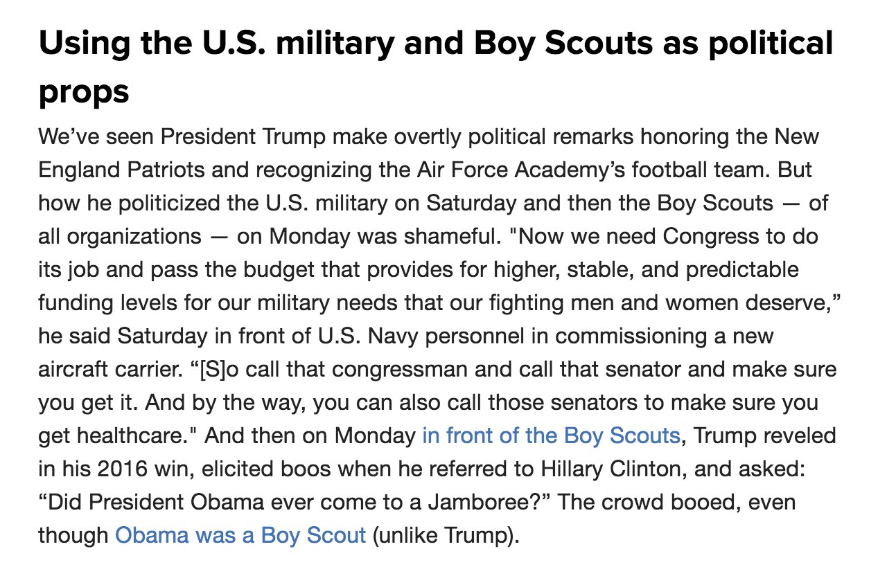 .@NBCFirstRead on Trump's speech to the Boy Scouts https://t.co/8LhhJVHiQG https://t.co/AYORpTRJwX