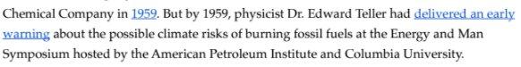 Bonus from #UtilitiesKnew report: American Petroleum Institute was warned about #climatechange in 1959 #ExxonKnew  http://www. energyandpolicy.org/utilities-knew -about-climate-change/ &nbsp; … <br>http://pic.twitter.com/4GXRyaVpqn
