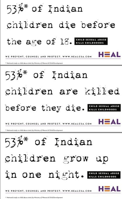 @HEAL_01 's latest campaign on #ChildSexualAbuse is an encouraging one. Learn how to identify and prevent @ https://t.co/GrRSD5m96L https://t.co/BBdgXWhoiz