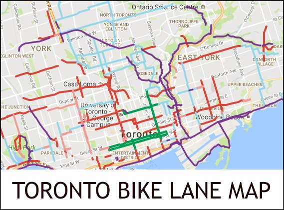 Did you know that all of #Toronto&#39;s bike lanes are on a google map? #biketo  http:// ift.tt/2rDEEtW  &nbsp;  <br>http://pic.twitter.com/F0ePJ7Pc3W