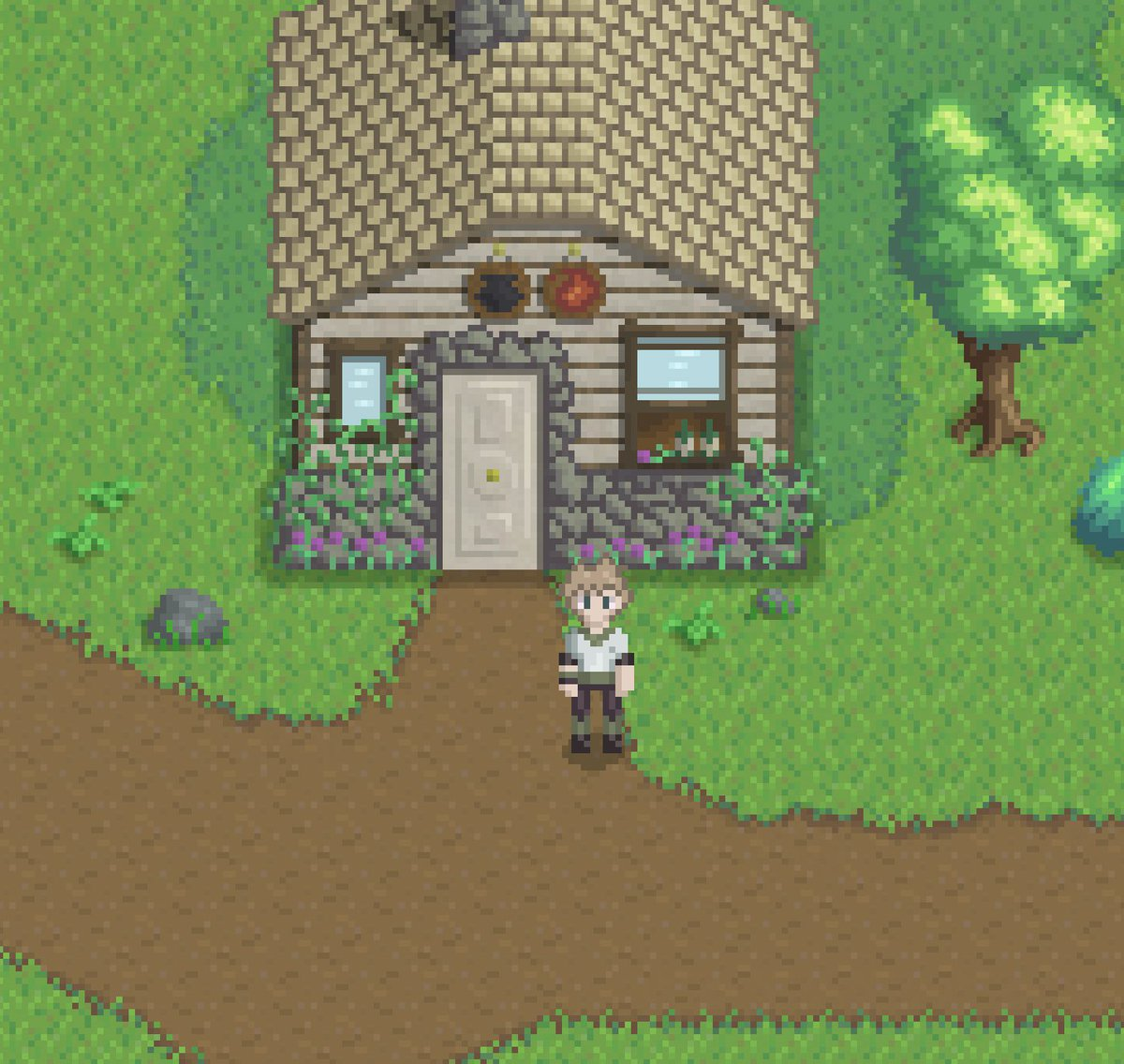 Screenshot from Croix Island in Revery Rebirth. WIP. #gamedev #indiegame #pixelart #RPG<br>http://pic.twitter.com/zvnddkDin8