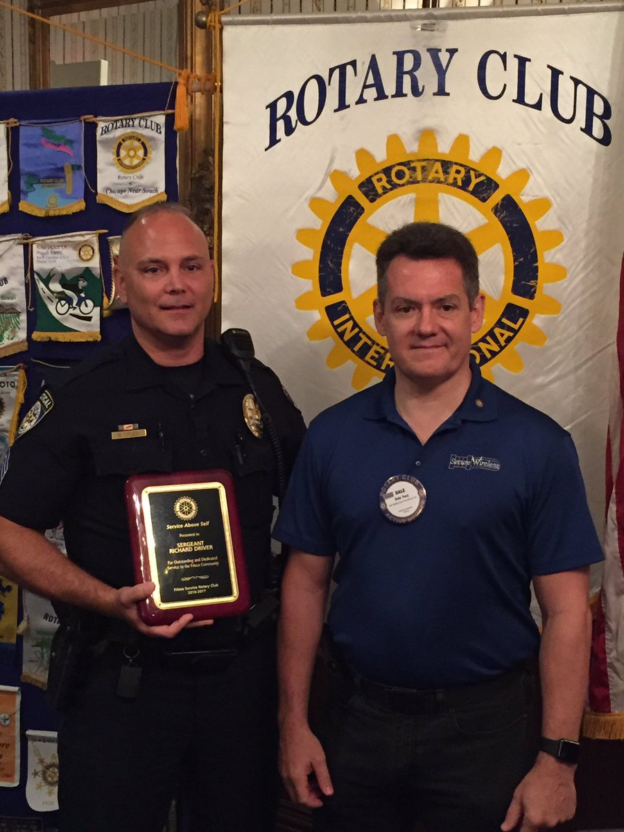 Congrats to Sgt. Driver who was awarded the @FriscoSunrise @Rotary Service Above Self Award! Thanks for your #Service to #Frisco! @FriscoPD<br>http://pic.twitter.com/0EHyAxVjRz