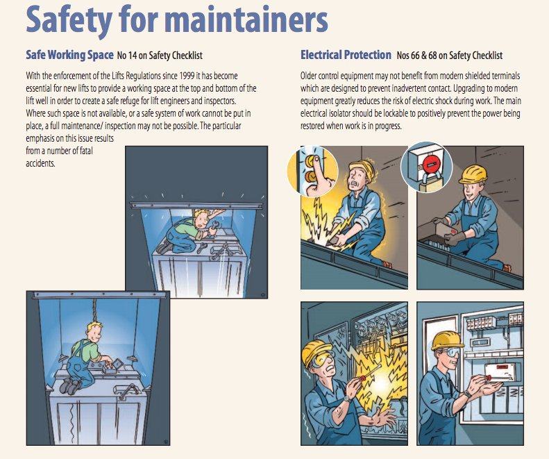 #Toptips on lift #maintenance via #LEIA: These points illustrate the importance of having a safe working space &amp; #electrical protection.<br>http://pic.twitter.com/drgPv4WYX8
