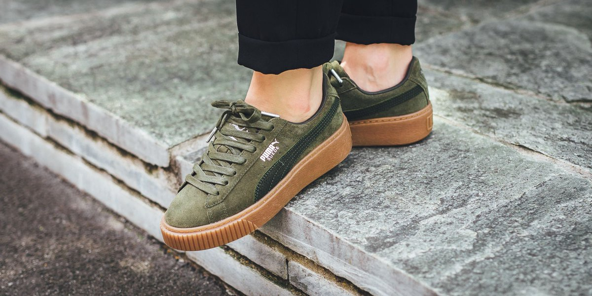 14036a07973 NEW IN! Puma Suede Platform Animal - Olive Night-silver  http   bit.ly 2uxcqEq pic.twitter.com 6vmMPpXaqs