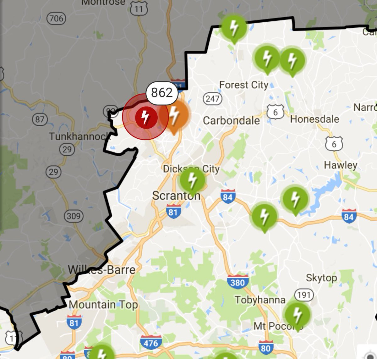 Ppl Power Outage Map Eric Deabill on Twitter: