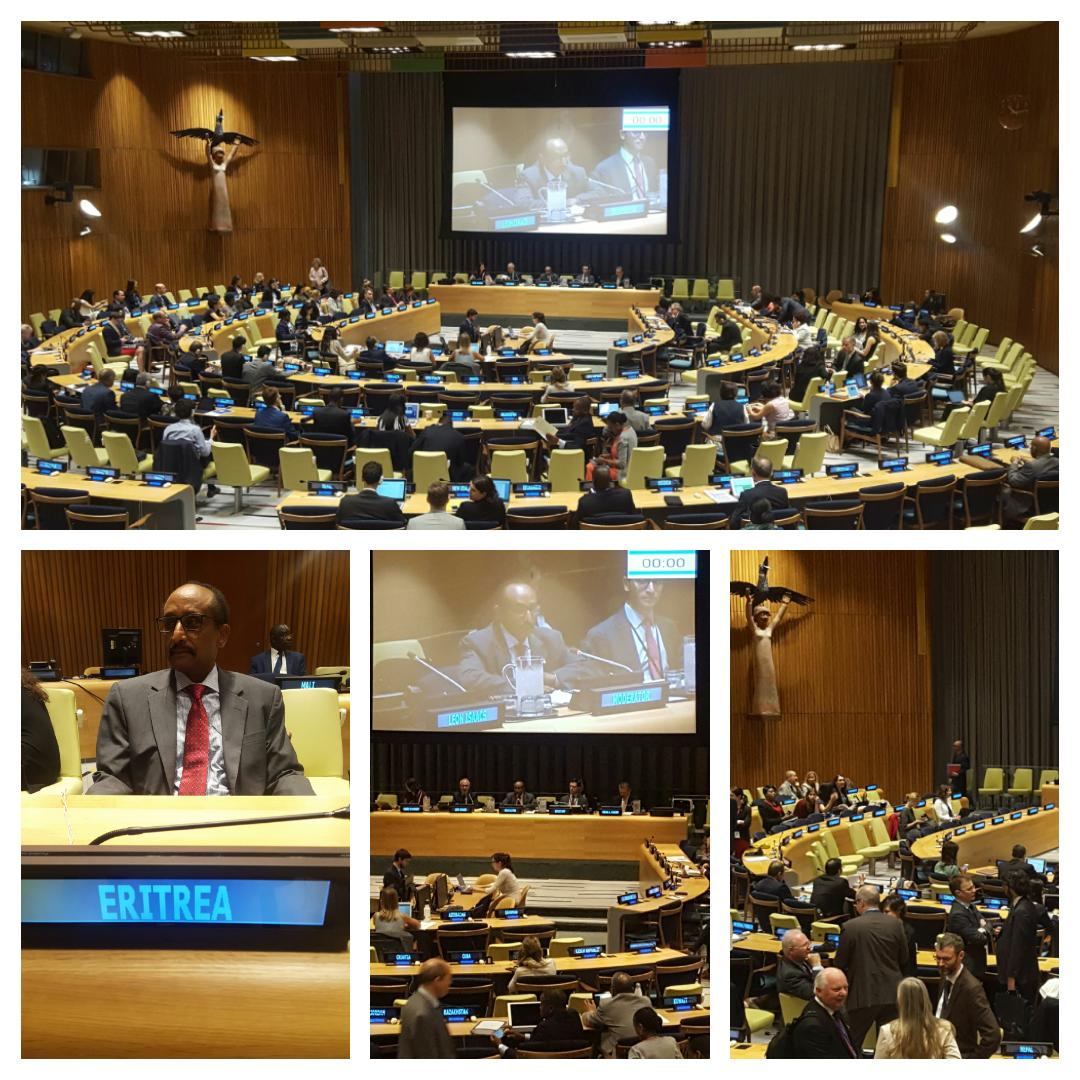 H.E Amanuel Giorgo from #Eritrea at z #UN moderating th4 Thematic Session entitled #&quot;Remittances and portability of earned benefits&quot; <br>http://pic.twitter.com/7bdjKlvmfI