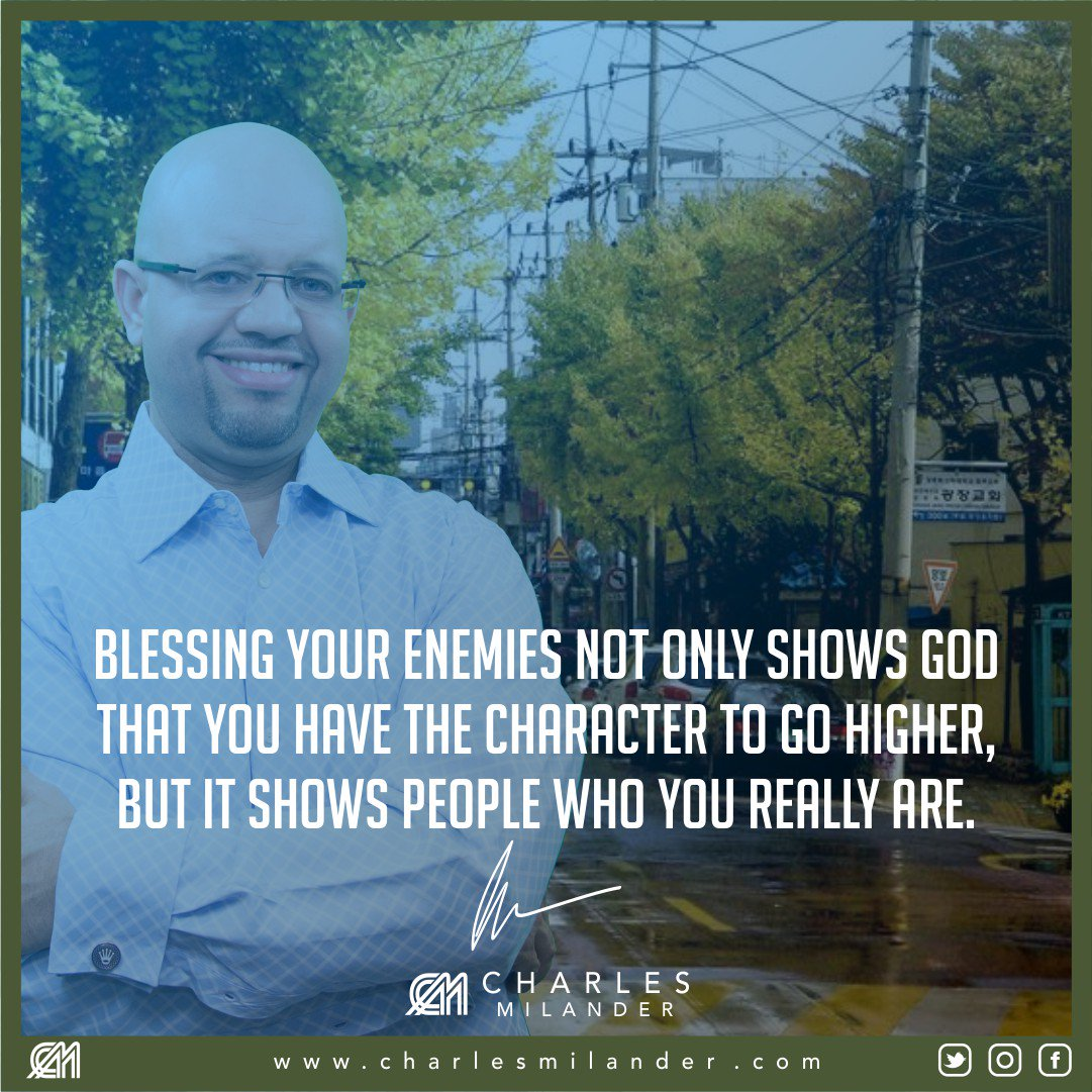 Blessing your enemies not only shows God that you have the character to go higher, but it shows people who you really are. #bible #Jesus<br>http://pic.twitter.com/Bo45431rrP