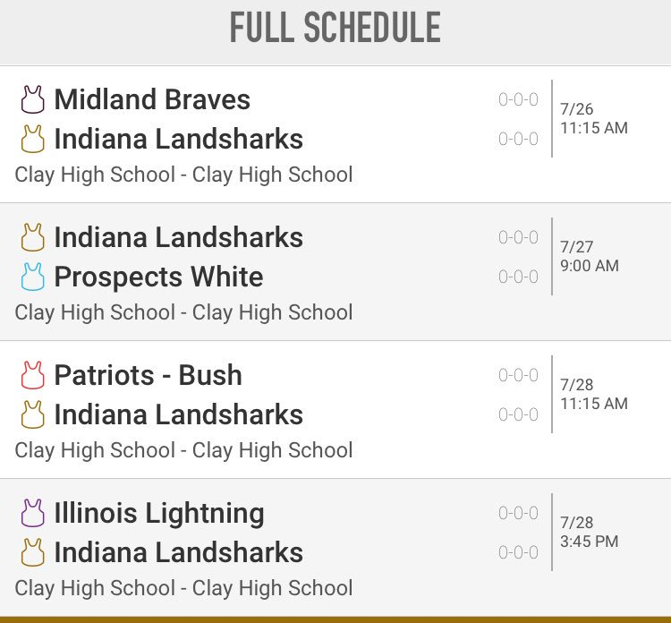 Here is the #Sharks pool play schedule for the 17u National Championship #RingChasing<br>http://pic.twitter.com/BeTDVqbEOV