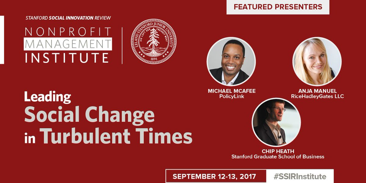 Schedule announced for 2017 #SSIRInstitute includes sessions by @mikemcafee06 @AnjaManuel1 &amp; Chip Heath  http:// bit.ly/SSIRInstitute17  &nbsp;   #nonprofit <br>http://pic.twitter.com/JQEICfGAsF