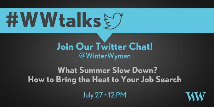 Join our #TwitterChat this Thurs., 7/27 at 12PM ET! #WWtalks