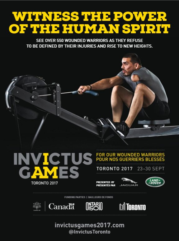 #DYK that @TSN_Sports is broadcasting the 2017 @InvictusToronto games? I just found out, and it made my day! #merci #InvictusGames #Toronto <br>http://pic.twitter.com/T0sF706xpa