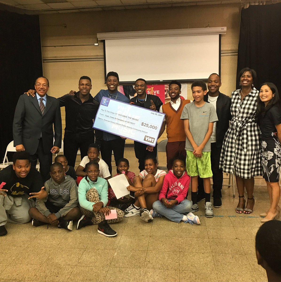 Thank you Emerson Elementary and @VH1SaveTheMusic! #DETROITmovie https...