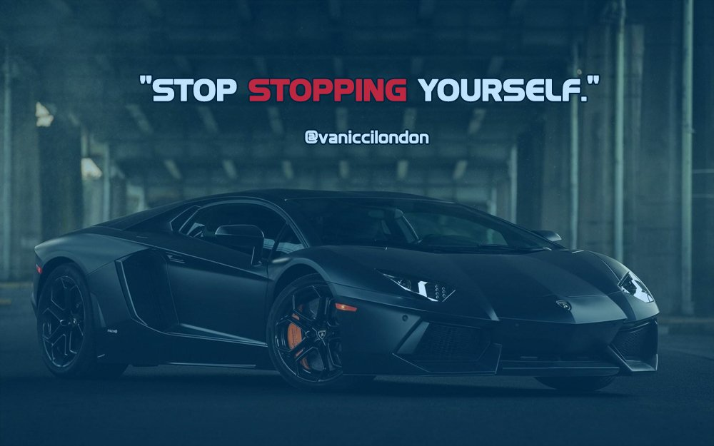 Stop STOPPING yourself.  Got Instagram? Go here =&gt;  http:// ow.ly/orKB30dLXzq  &nbsp;    #quoteoftheday #hustle #BeAwesome<br>http://pic.twitter.com/jJyG5hPYVG