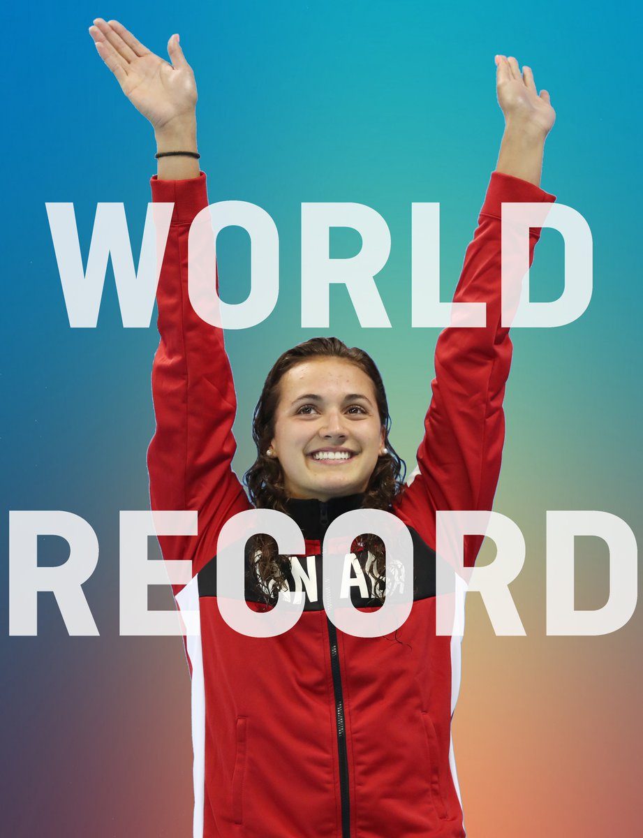 WORLD RECORD ALERT Kylie Masse sets the 100m backstroke world record in 58.10 #FINABudapest2017 #InOurNature https://t.co/i5JqnRu32C