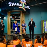 Proud to show our important #STEM & innovation programs @amhistorymuseum #SparkLab to @BetsyDeVosED & @IvankaTrump at #SummerReading event