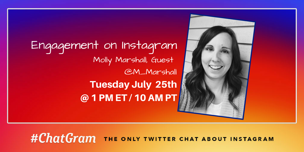 #ChatGram Fam, today we are talking about Engagement on Instagram. Give warm welcome to guest @m_marshall to help us talk about this topic. https://t.co/ZPVGK8x4ji