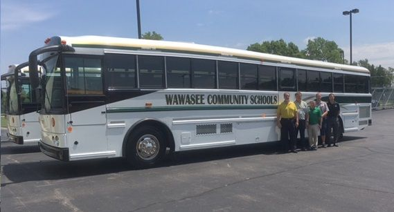 Kerlin Bus Sales On Twitter We Delivered These Custom Team Buses To Wawasee School Corp With Graphic And Upgraded Interior Kerlinbus Mfsab