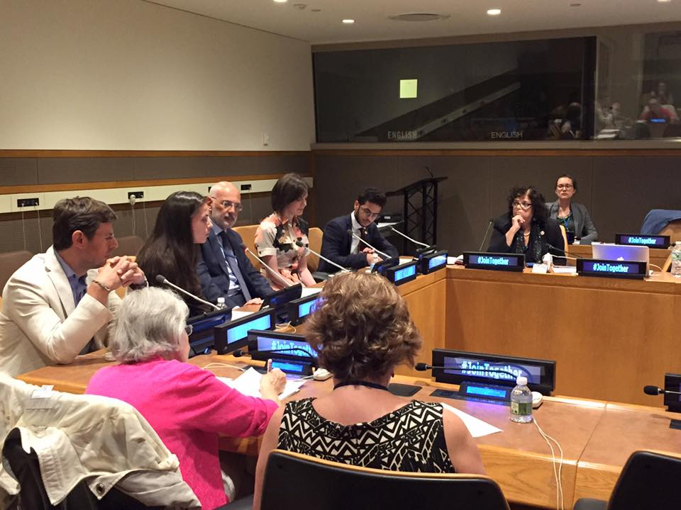 Today at the UN: Together Storytelling with respect, safety and dignity for all. Screening No Monsters In Berlin.  #UN #JoinTogether<br>http://pic.twitter.com/qaO7nCqlDK