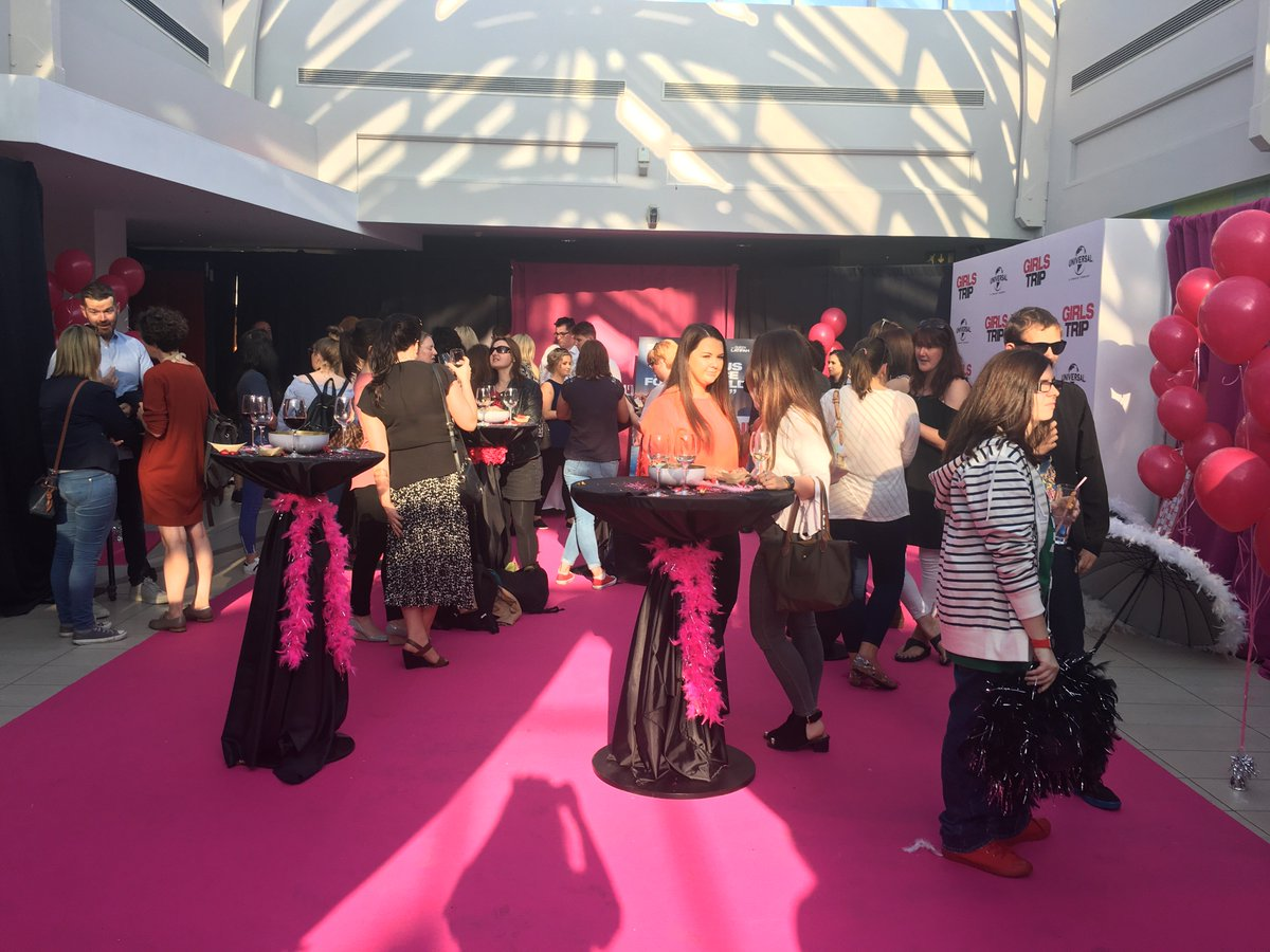It's all kicking off at the #GirlsTrip premiere at the #OmniplexVIPLou...