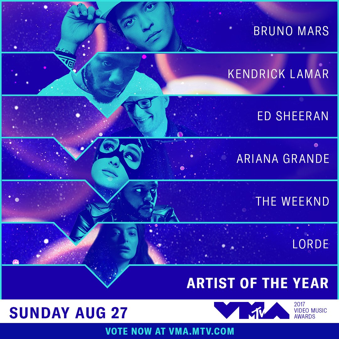 🚨 VOTING IS NOW OPEN FOR THE 2017 #VMAs ON https://t.co/Jp9WA18tl9!🚨 h...