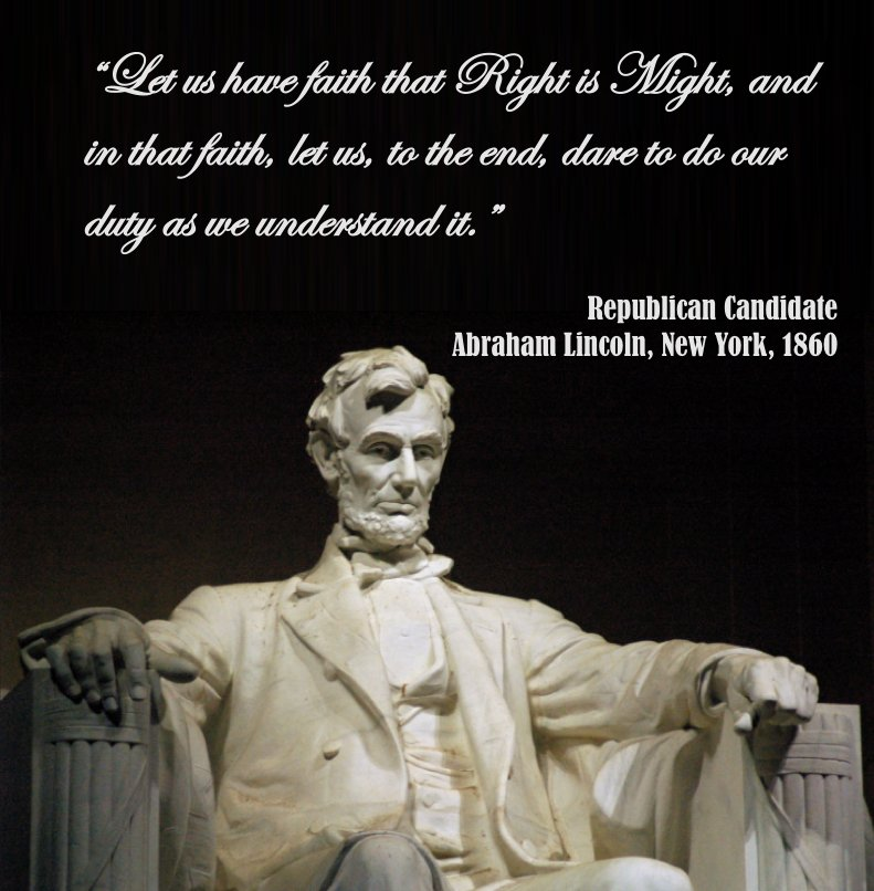 ABRAHAM LINCOLN KNEW THE #DEMOCRATS WERE CORRUPT. WE CAN NEVER FORGET HIS WORDS THAT RING TRUE TODAY &quot;RIGHT IS MIGHT&quot; @realDonaldTrump <br>http://pic.twitter.com/fDZNh2PP7v