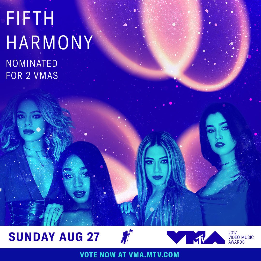 @FifthHarmony hi, bbs! did you hear?! you're nominated at the 2017 #vm...